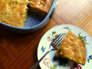 Peach-Blueberry Buttermilk Tea Cake