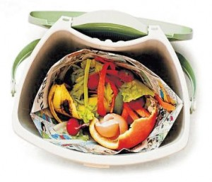 Make a compost pail liner from newspaper!