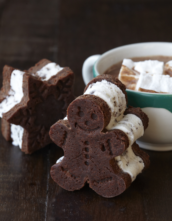 Winter Holidays ice cream sandwich