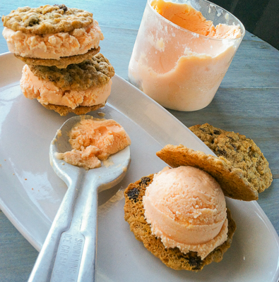 peachy keen ice cream sandwich